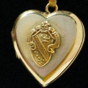 Jewelry - **VINTAGE 14K GF ALPHA PHI FRATERNITY HEART LOCKET